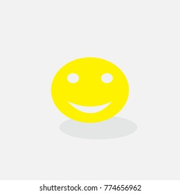 yellow face with a smile, vector illustration
