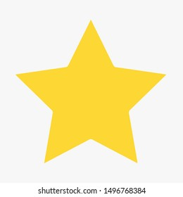 yellow flat star icon button