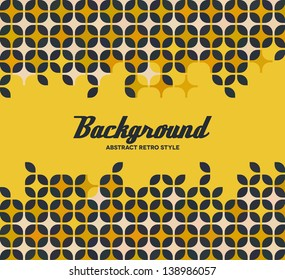 Yellow frame with repeating retro bauhaus pattern