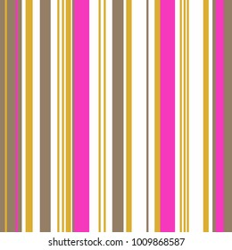 Yellow and fuchsia Retro Bright Colorful seamless stripes pattern. Abstract vector background. Stylish colors. Fashionable color of autumn of 2018