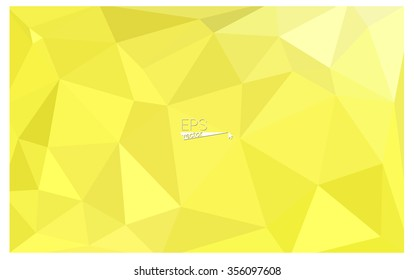Yellow geometric rumpled triangular low poly style origami gradient illustration graphic background. Vector polygonal design for your business.