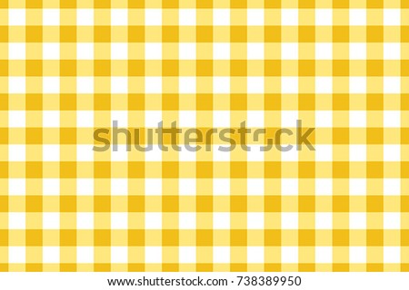 Yellow Gingham Tablecloth Seamless Background Pattern Design