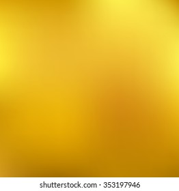 Yellow gold blurred background with light