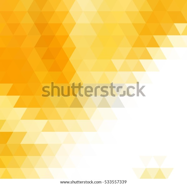 Yellow and gold polygonal illustration background