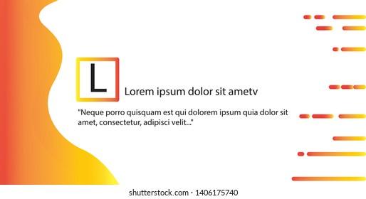 yellow gradient banners design grapics