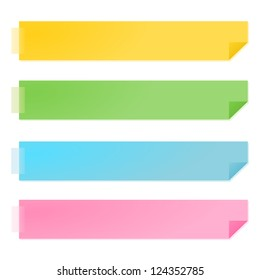 yellow and green paper notes vector illustration