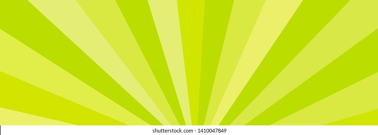 Yellow and green rays. Radial rays abstract background. Colorful background for your design.Abstract background modern futuristic graphic. Vector illustration.