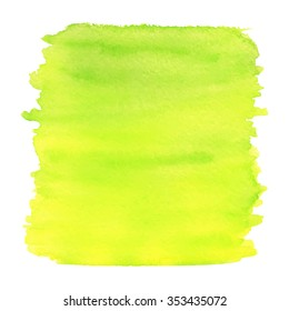Yellow and green watercolor texture. Vector illustration.