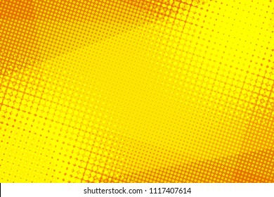 Yellow halftone background. Pop art retro vector illustration vintage kitsch drawing
