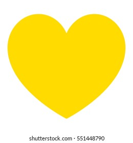 Yellow heart. Vector eps.
