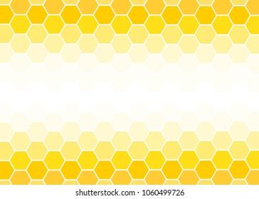 Yellow Hexagon abstract background vector design.