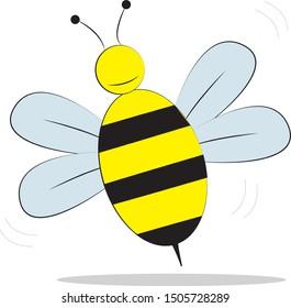 yellow honey bee graphic vector