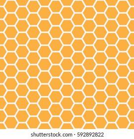 Yellow honey comb graphic.