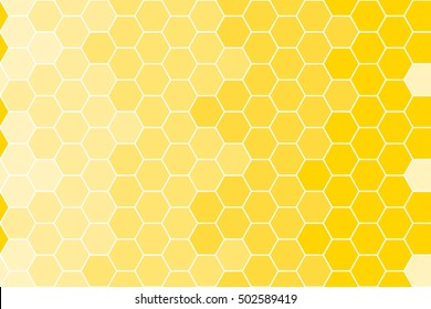 yellow honeycomb background - vector