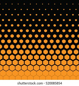 yellow honeycomb and black background