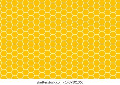 Yellow honeycomb honey seamless pattern Vector eps hexagons of geometric shapes mosaic background