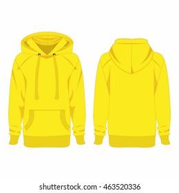 Yellow hoodie isolated vector