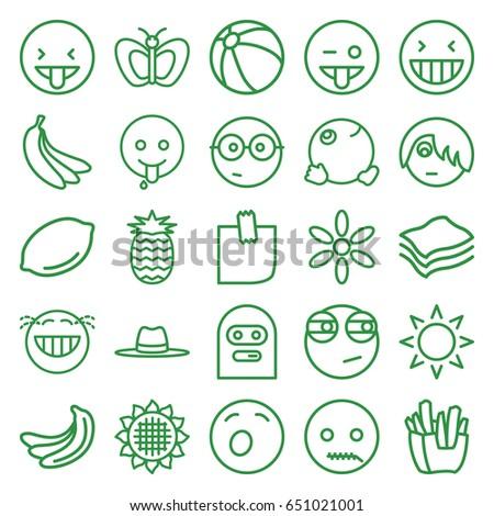 Yellow icons set set
