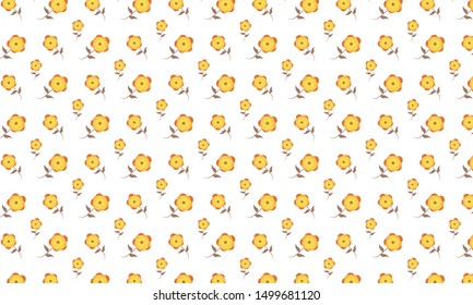 Yellow Ixia Flower Pattern Background