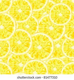 Yellow lemons a seamless background