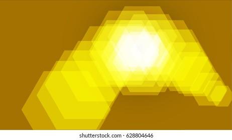 yellow light effect art