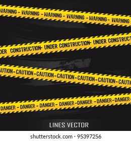 yellow lines over black background. vector illustration