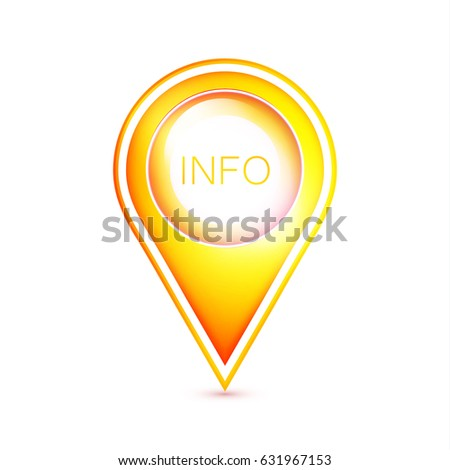yellow map pointer icon location symbol stock vector royalty free