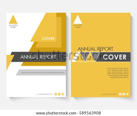 yellow marketing cover design template annual のベクター画像素材