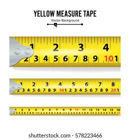 Yellow Measure Tape Vector