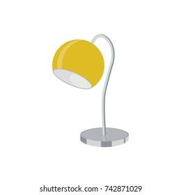 Yellow metal table lamp illustration