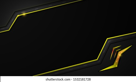 yellow metallic frame template sport concept design background eps 10 vector