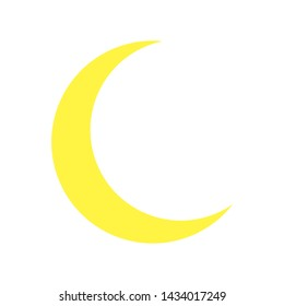 Yellow Moon icon isolated on background. Modern flat pictogram, business, marketing, internet concept. Trendy Simple vector symbol for web site design or button to mobile app. Logo illustration.