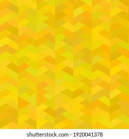 Yellow mosaic vector background.  Tiled pattern for decoration.