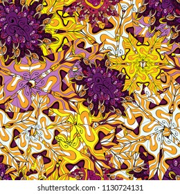 Yellow, neutral and black on colors. It can be used on wallpaper, wrapping boxes, mug prints, baby apparels etc. Vector sketch. Doodles pattern. Cute background. Seamless pattern Nice fabric pattern.