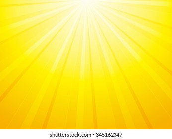 yellow orange background with sun rays