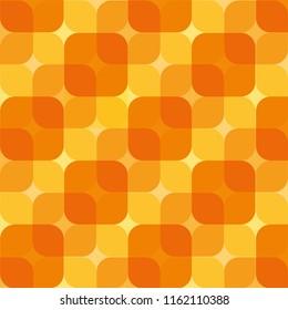 Yellow orange pattern square