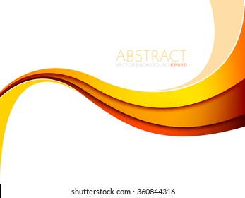Yellow orange and red line vector background curve gradient colour with white space for text and message design