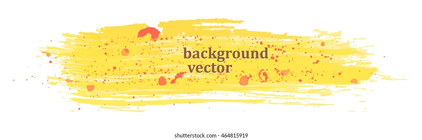 Yellow paint band with red spots for your design. Vector.