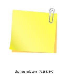 A yellow paper with clip