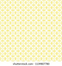 Yellow pattern, geometric background with yellow circle and square element