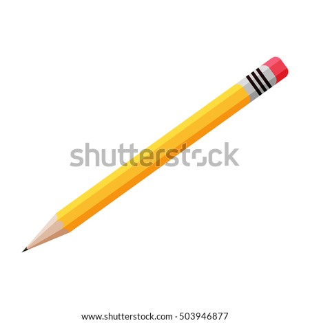 Yellow Pencil Vector Symbol Icon Design Stock Vector Royalty Free