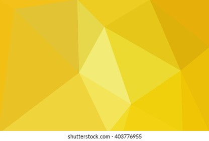 Yellow polygonal illustration, which consist of triangles. Geometric background in Origami style with gradient. Triangular design for your business.