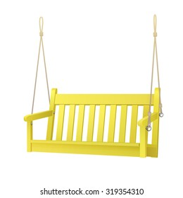 yellow porch swing