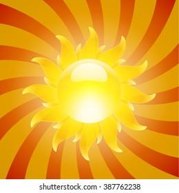 yellow rays sunny