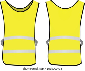 Yellow reflective vest. vector illustration