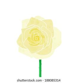 Yellow rose vector