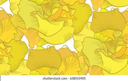 Yellow rose vector pattern