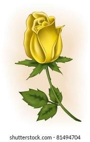 Yellow rosebud
