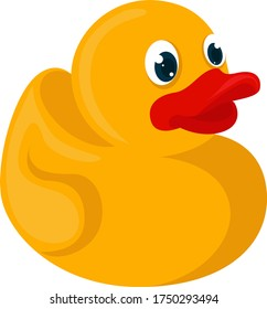 Yellow rubber duck , illustration, vector on white background