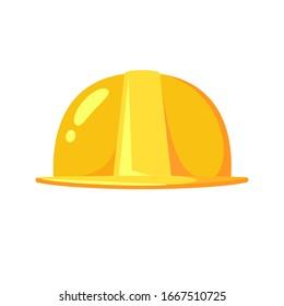 Yellow Safety Helmet. Isolated Vector Illustration